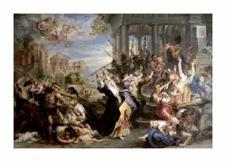 "Peter Paul Rubens Fine Art Open Edition Giclée:""Slaughter of the Innocents"""