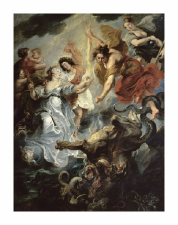 """Peter Paul Rubens Fine Art Open Edition Giclée:""""The Queen's Reconciliation with Her Son"""""""
