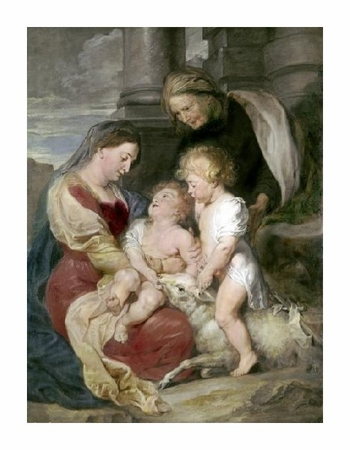 "Peter Paul Rubens Fine Art Open Edition Giclée:""Virgin & Child with St. Elizabeth & St. John"""