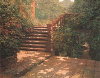 """Philip Craig Hand Signed and Numbered Limited Edition Print """"Steps at Hestercombe"""""""