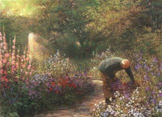 """Philip Craig Hand Signed and Numbered Limited Edition Print """"The Gardener"""""""