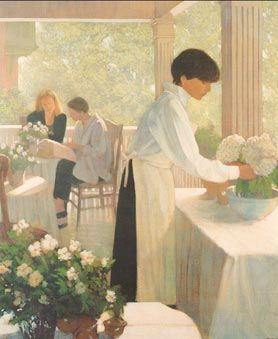 """Philip Craig Hand Signed and Numbered Limited Edition Print """"Verandah Cafe"""""""