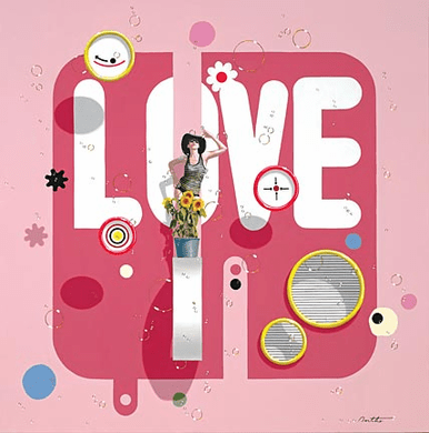 "Philippe Bertho Artist Hand Signed and Numbered Limited Edition Hand-Pulled Serigraph On Canvas: ""Love"""