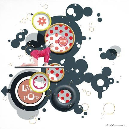 """Philippe Bertho Artist Hand Signed and Numbered Limited Edition Hand-Pulled Serigraph On Canvas: """"Love Pop 2"""""""