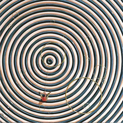 """Philippe Bertho Limited Edition Hand Pulled Serigraph on Gesso Board: """"Ça Tourne (It's Spinning) """""""