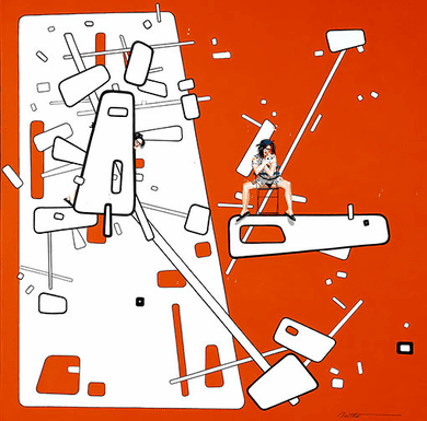 """Philippe Bertho Signed And Numbered Limited Edition Canvas Serigraph:""""Elle et sa culotte"""""""