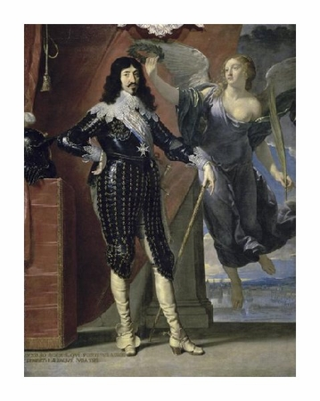 "Philippe De Champaigne Fine Art Open Edition Giclée:""Louis Xiii Crowned By Victory"""
