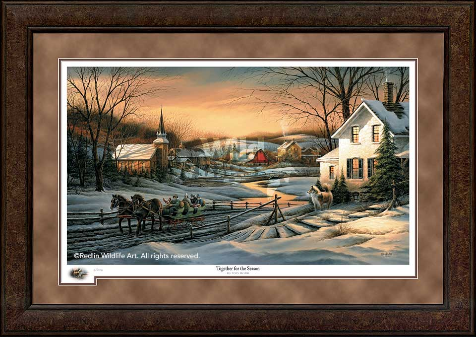 Terry Redlin Premium Framed 2016 Limited Edition Holiday Print ...