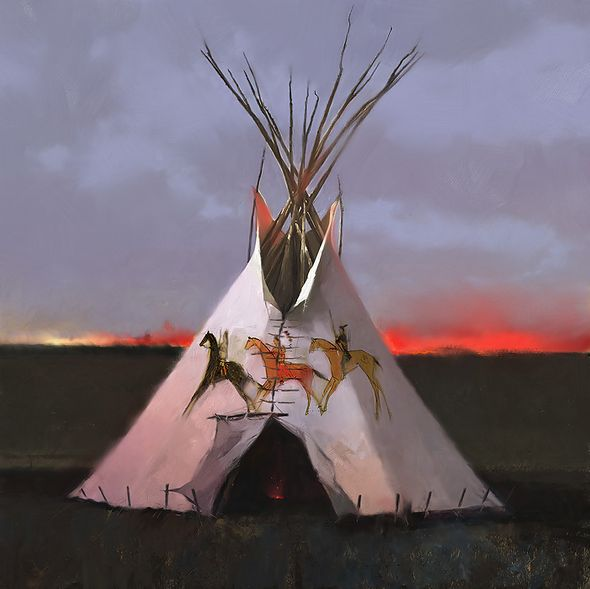 """R. Tom Gilleon Hand Signed and Numbered Limited Edition Gallery Wrap Canvas Giclee:""""Three Dog Soldiers"""""""