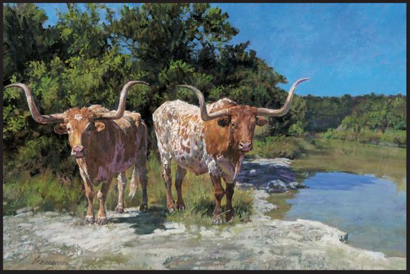 """Ragan Gennusa Hand Signed and Numbered Limited Edition Canvas Giclee:""""Pardners"""""""