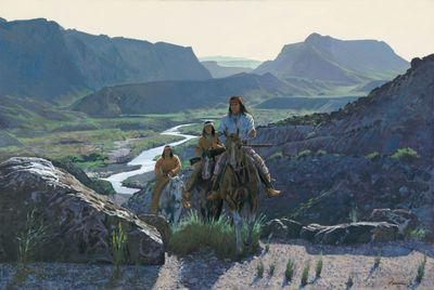 """Ragan Gennusa Hand Signed and Numbered Limited Edition Canvas:""""Across the Rio Grande"""""""