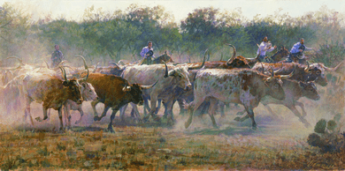 """Ragan Gennusa Hand Signed and Numbered Limited Edition Giclee:""""Hold On To Your Hats"""""""