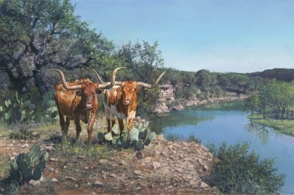 """Ragan Gennusa  Hand Signed and Numbered Limited Edition Giclee on Paper and Canvas: """"Lone Star Legacy"""""""