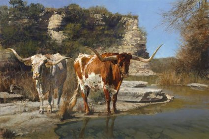 """Ragan Gennusa Hand Signed and Numbered Limited Edition Giclee on Paper and Canvas: """"Pinto Pardners"""""""