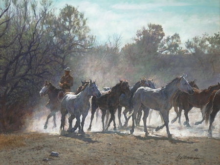 """Ragan Gennusa Hand Signed and Numbered Limited Edition Giclee on Paper and Canvas:""""Wichita Work"""""""
