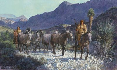 "Ragan Gennusa Artist Signed Limited Edition Canvas Giclee:""Up From Lajitas Crossing"""