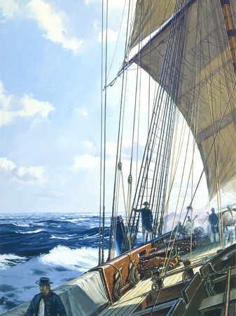 """Geoff Hunt Artist Signed Limited Edition Giclee Print:""""Post Captain"""""""