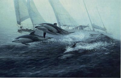 "Randall Scott Limited Edition Print: ""Bow Riders-Pacific"