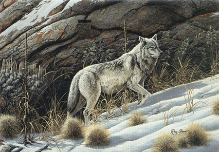 """Ray Shaw Handsigned and Numbered Limited Edition Print: """"Looking for the Pack"""""""