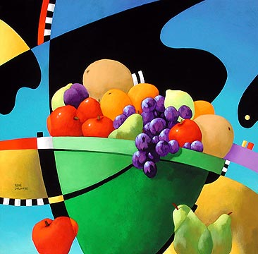 "René Lalonde Limited Edition Hand Pulled Serigraph:""Healthy Still Life"""