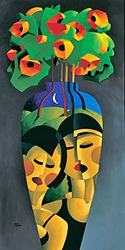 """Rene Lalonde Limited Edition Hand Pulled Serigraph:""""Friendship Bouquet"""""""