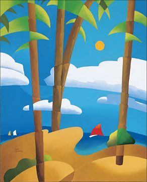 """Rene Lalonde Limited Edition Hand Pulled Serigraph:""""The Tide is High"""""""
