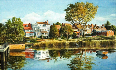 """Richard Bollinger Hand Signed and Numbered Limited Edition Print: """"Morning Along the Strand"""""""