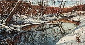 "Richard Bollinger Hand Signed and Numbered Limited Edition Print: ""Valley Creek """