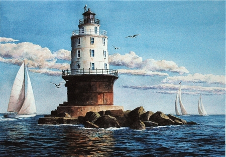 """Richard Bollinger Handsigned and Numbered Limited Edition:""""Beacon of Refuge"""""""