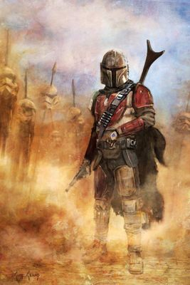 "Cliff Cramp Star Wars Mandalorian Limited Edition Art:""It's A Complicated Profession"""