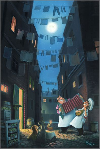 """Rob Kaz Signed and Numbered Giclée on Canvas:""""Serenade of the Heart"""""""