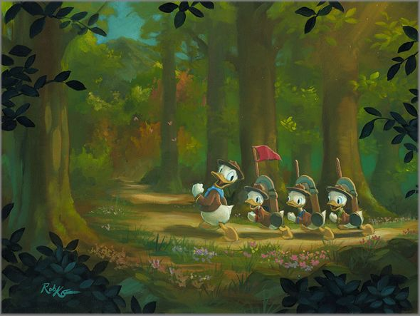 "Rob Kaz Signed and Numbered Giclée on Canvas:""The Good Scouts"""