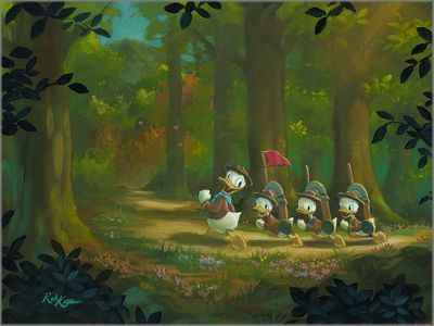 """Rob Kaz Signed and Numbered Giclée on Canvas:""""The Good Scouts"""""""