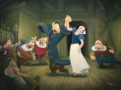 """Rob Kaz Signed and Numbered Giclée on Canvas : """"Three for the Dance"""""""