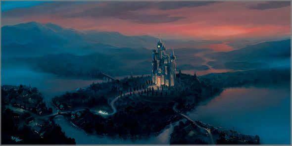 """Rob Kaz Signed and Numbered Limited Edition Hand-Embellished Giclée on Canvas:""""A Dream Coming True"""""""