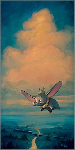 "Rob Kaz Signed and Numbered Limited Edition Hand-Embellished Giclée on Canvas:""Joy of Flight"""