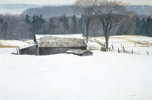 """Robert Bateman Hand-Signed and Numbered Limited Edition Print and Canvas Giclee:""""Along Walker's Line"""""""