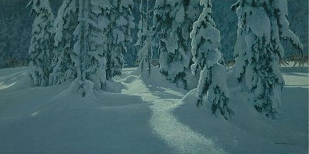 "Robert Bateman Hand Signed And Numbered Limited Edition Print  and Canvas Giclee :""Deep Winter - Wolves"""