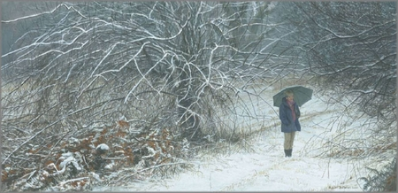 "Robert Bateman Hand Signed And Numbered Limited Edition Print :""Winter Walk"""