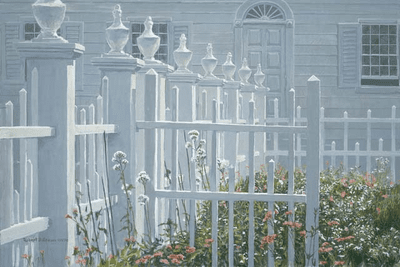 """Robert Bateman Handsigned and Numbered Limited Edition Giclee on Canvas:""""Colonial Garden"""""""
