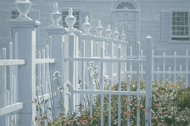 "Robert Bateman Handsigned and Numbered Limited Edition Giclee on Canvas:""Colonial Garden"""