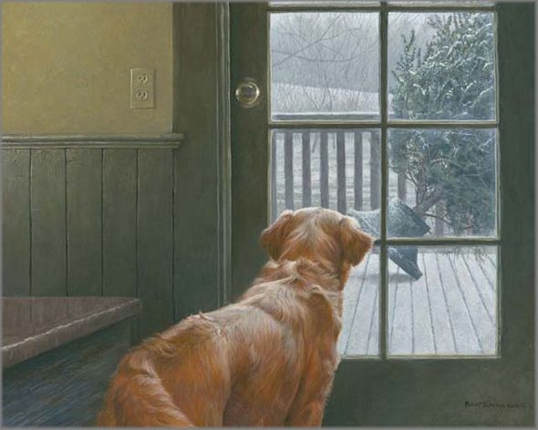 """Robert Bateman Handsigned and Numbered Limited Edition Giclee on Canvas: """"Observing Christmas"""""""