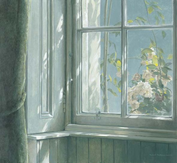 """Robert Bateman Handsigned and Numbered Limited Edition:""""Manor House - Wren and Roses"""""""