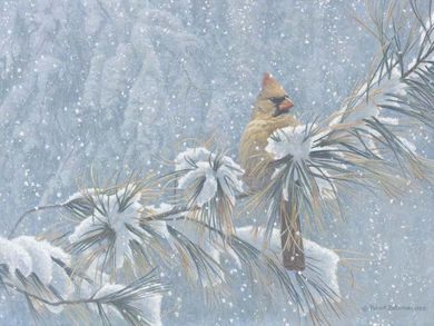 """Robert Bateman Handsigned and Numbered Limited Edition Renaissance Giclee on Canvas: """"Winter Lady"""""""