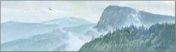 "Robert Bateman Handsigned Limited Edition Renaissance Giclee Canvas w/ book :""Thinking Like a Mountain"""