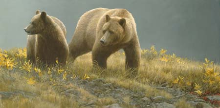 "Robert Bateman Handsigned & Numbered Limited Edition : ""Alaska Light"""