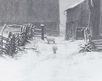 """Robert Bateman Handsigned & Numbered Limited Edition Giclee on Canvas:""""In for the Evening"""""""