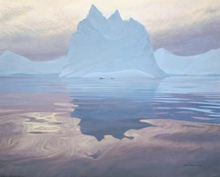 "Robert Bateman Handsigned & Numbered Limited Edition Print:""Antarctic Evening-Humpback Whales """