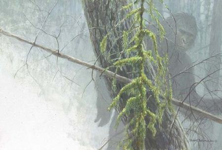 "Robert Bateman Handsigned & Numbered Limited Edition:""Sasquatch"""