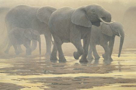 "Robert Bateman Limited Edition Canvas:""By The River"""